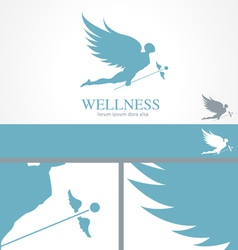 Angel Wellness Medical Logo Concept template vector image vector image