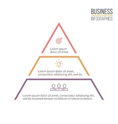 Pyramid triangle with 3 steps levels vector image vector image