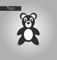 black and white style icon toy bear vector image vector image