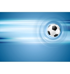 Bright blue football background vector image vector image