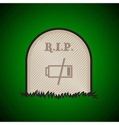 Gravestone dead battery vector image vector image