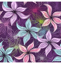 seamless easter floral pattern vector image vector image