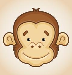 Cute Monkey Face vector image vector image