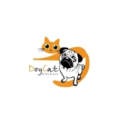 Dog Cat logo vector image