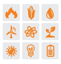 ecology energy icon vector image