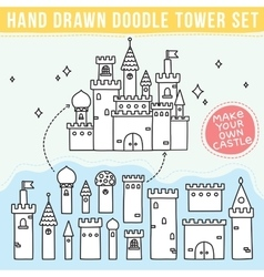 Hand drawn doodle tower set vector image vector image