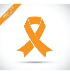 kidney cancer awareness vector image vector image