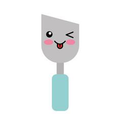 spatula of construction kawaii character vector image vector image