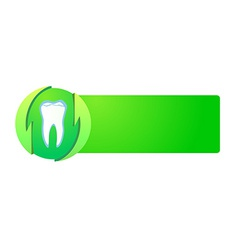 healthy teeth on green banner vector image vector image
