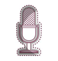 microphone retro audio device vector image