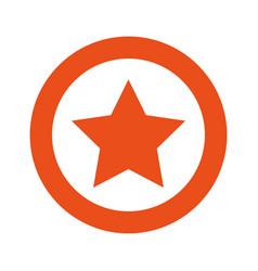 orange symbol star icon vector image