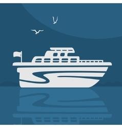 Symbol Boat vector image vector image