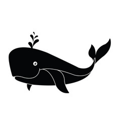 whale icon isolated on white background vector image