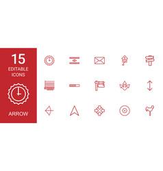 15 arrow icons vector