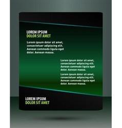 Abstract green flyer vector