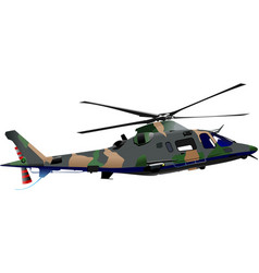Air force combat helicopter vector
