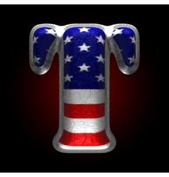 American metal figure t vector