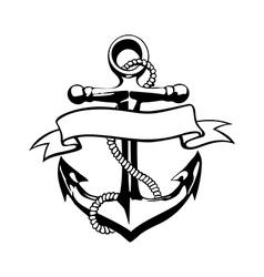 Anchor icon tattoo logo grunge design floral hand vector