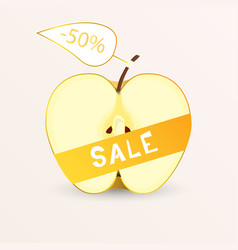 Apple sale vector