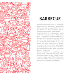 barbecue line pattern concept vector image