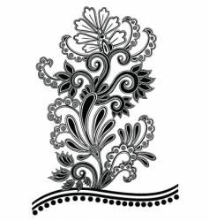 Batik floral vector