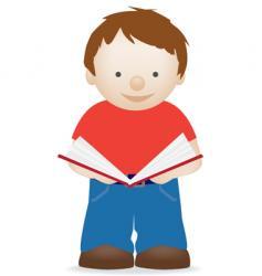 boy reading vector image