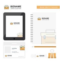Briefcase business logo tab app diary pvc vector