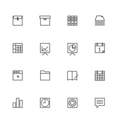 business and finance icon sets line icons vector image