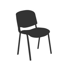 chair icon isolated on ligth vector image vector image