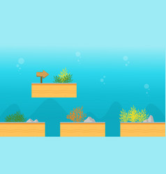 Collection stock underwater game background vector