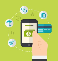 Concepts of online payment methods icons for vector