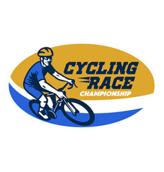 Cycling race event logo style vector