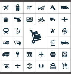 delivery icons universal set for web and ui vector image