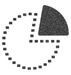 Dotted Pie Chart Grainy Texture Icon vector