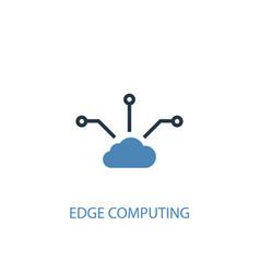 Edge computing concept 2 colored icon simple blue vector