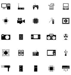 electronics icon set vector image