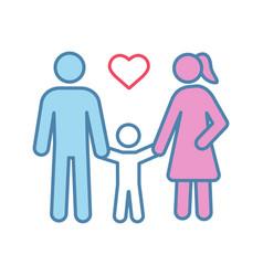 family color icon vector image