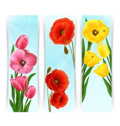 Floral Banners Vertical vector image
