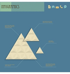 Geometric design template for infographics vector image