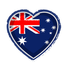 Heart shaped flag of australia vector