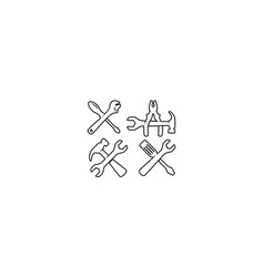 home repair tool logo icon vector image