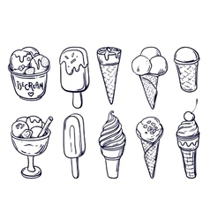 Homemade ice cream vector