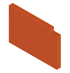 isometric brick wall vector image