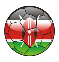 kenya flag on soccer ball vector image
