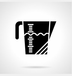 kitchenware measuring cup glyph style icon vector image