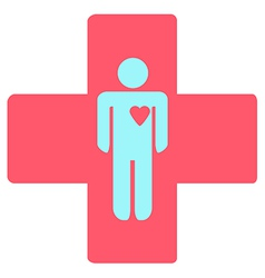 medical cross with a man vector image