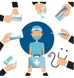 Medical nurse icon vector