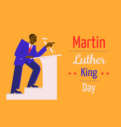 Mlk day with martin luther king jr vector