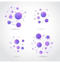 molecule structure vector image