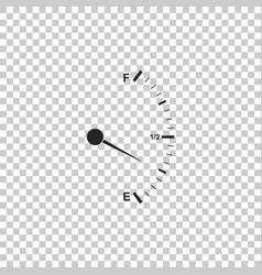 motor gas gauge icon isolated empty fuel meter vector image